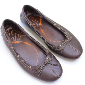 Timberland | Anti Fatigue Brown Leather Bow Flats